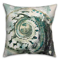 Abstract Shell Throw Pillow