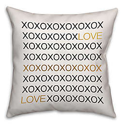 Love Hugs and Kisses Square Throw Pillow