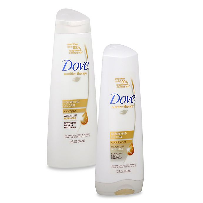 Alternate image 1 for Dove 12 oz. Nutritive Therapy Nourishing Oil Care Shampoo and Conditioner