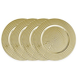 ChargeIt! by Jay Beaded Charger Plates (Set of 4)