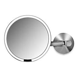 simplehuman® 5X Sensor Wall-Mounted Mirror in Brushed Metal