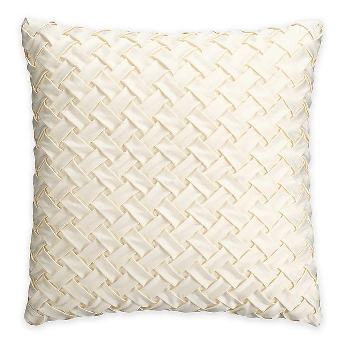 Bridge Street Estelle Basketweave Square Throw Pillow In