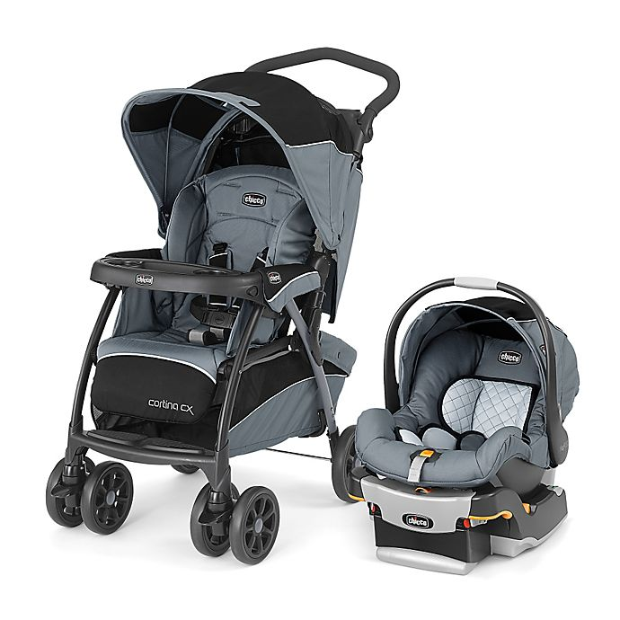Alternate image 1 for Chicco® Cortina® CX Keyfit® 30 Travel System in Iron™