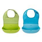 OXO Tot® 2-Pack Roll Up Bibs in Aqua/Green