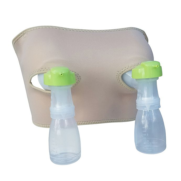 Alternate image 1 for Pump Strap Hands-Free Pumping Bra and Cup in Beige
