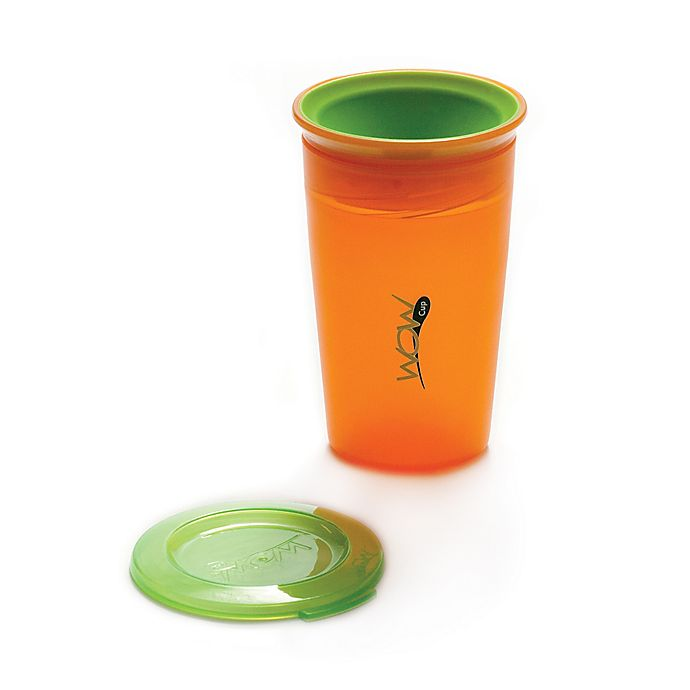 Alternate image 1 for Wow Baby Juicy! Spill-Proof Kid's Cup in Orange/Green
