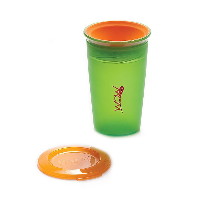 Alternate image 1 for Wow Baby Juicy! Spill-Proof Kid's Cup in Green/Orange