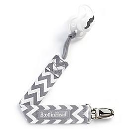 BooginHead® PaciGrip in Grey/White Chevron