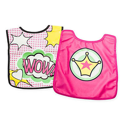"BooginHead® ""Wow"" Bib and Cape Set in Pink"