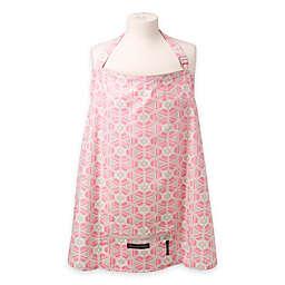 Petunia Pickle Bottom® Haven Organic Cotton Nursing Cover in Pink Blooming Brixham