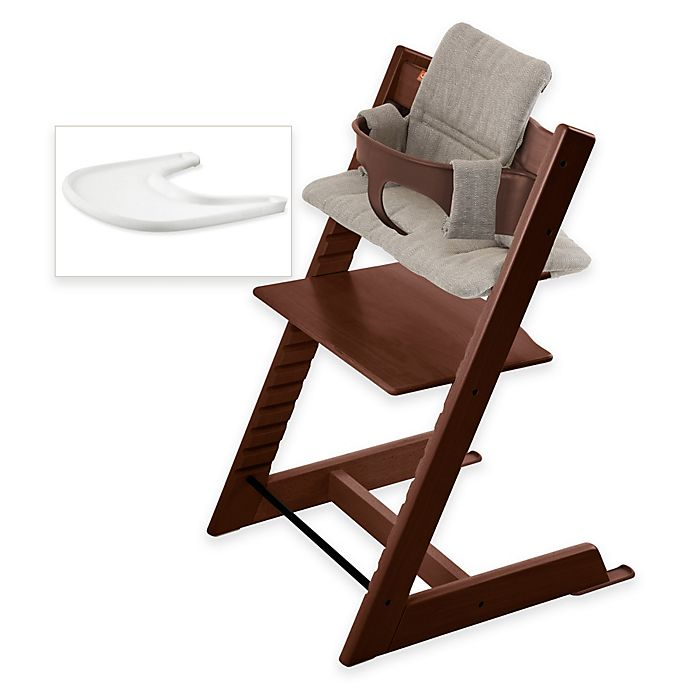 Alternate image 1 for Stokke® Tripp Trapp® High Chair Complete Bundle in Walnut