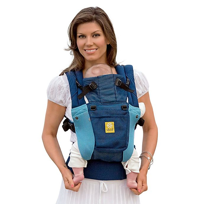 Alternate image 1 for lillebaby® COMPLETE™ Airflow Baby Carrier in Blue/Aqua