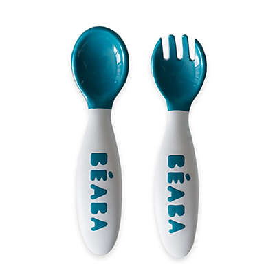 BEABA® 2-Piece 2nd Stage Soft Cutlery Set in Peacock