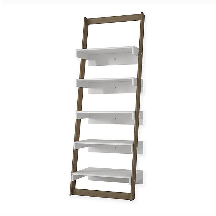 Alternate image 1 for Manhattan Comfort Carpina Ladder Shelf Bookcase