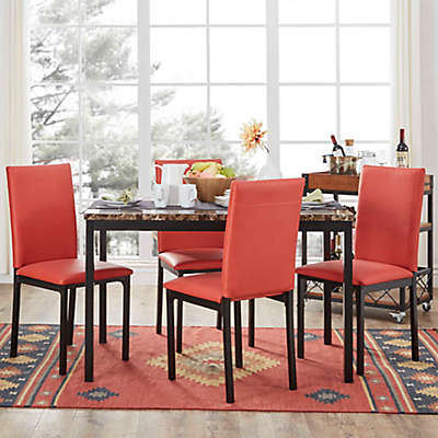 Verona Home Colby 5-Piece Faux Marble Dining Set