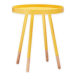 iNSPIRE Q® Darley Mid-Century Tray Top Accent Table in Yellow