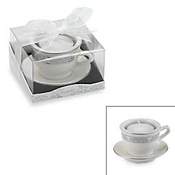Kate Aspen® Teacups and Tealights Miniature Porcelain Tealight Holder