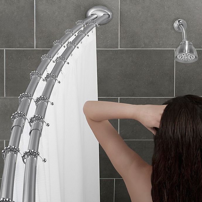 Bed Bath And Beyond Shower Rod alumia™ double curved shower rod in chrome | bed bath & beyond