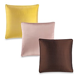Aura Silk Dupioni Box Square Throw Pillow
