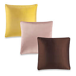 Aura Silk Dupioni Box Square Throw Pillow