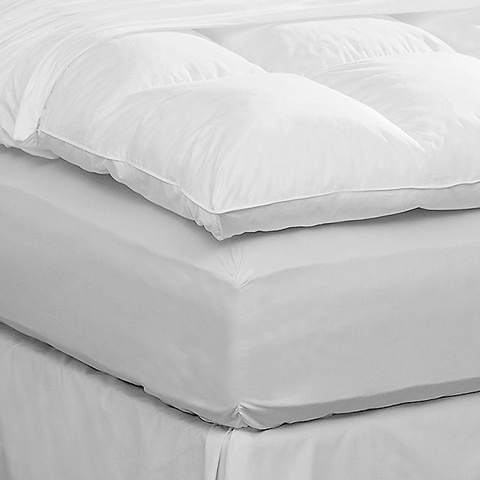 Alternate image 1 for Pacific Coast™ Twin Featherbed Protector in White