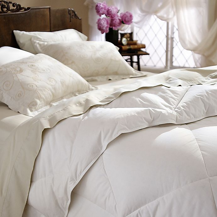 Alternate image 1 for Restful Nights® All-Natural Down Comforter in White