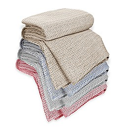 Nottingham Home Chevron Cotton Blanket