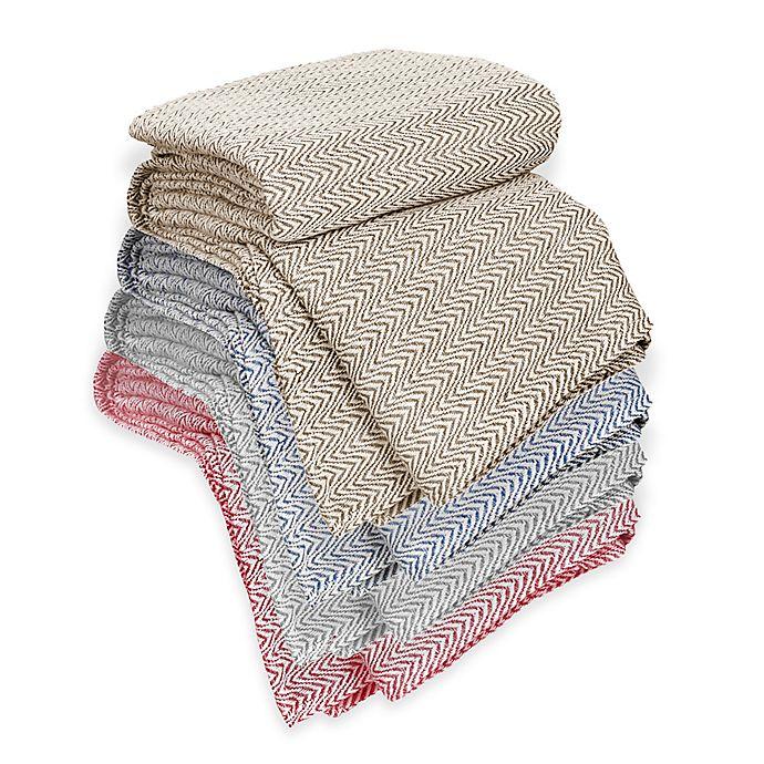 Alternate image 1 for Nottingham Home Chevron Cotton Blanket