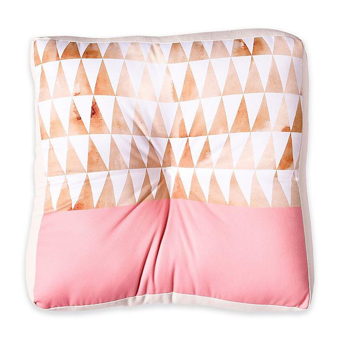 Alternate image 1 for Deny Designs Georgiana Paraschiv Gold Triangles Square Floor Pillow