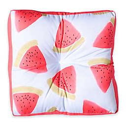 Deny Designs Joy Laforme Watermelon Confetti Square Floor Pillow