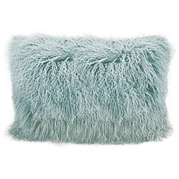 Mina Victory Tibetan Sheepskin Rectangle Throw Pillow