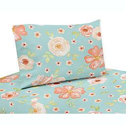 Sweet Jojo Designs® Watercolor Floral Sheet Set