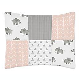Sweet Jojo Designs® Elephant Patchwork Standard Pillow Sham