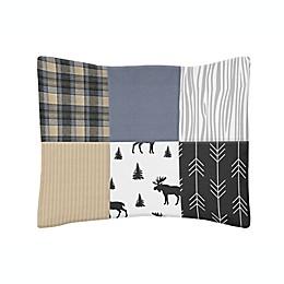 Sweet Jojo Designs® Rustic Patch Standard Pillow Sham in Blue