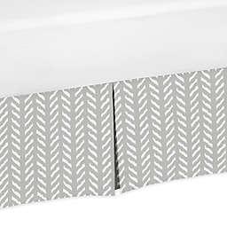 Sweet Jojo Designs® Woodland Friends Bed Skirt in Grey/White