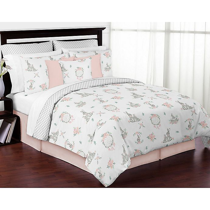 Alternate image 1 for Sweet Jojo Designs Bunny Floral Bedding Collection