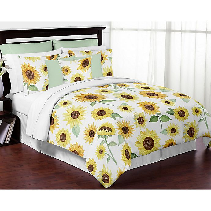 Alternate image 1 for Sweet Jojo Designs® Watercolor Sunflower Bedding Collection