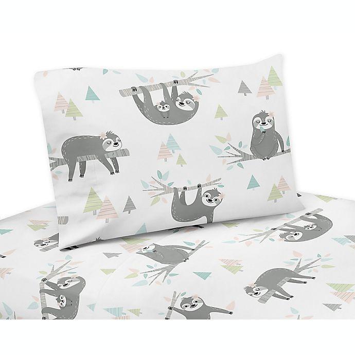 Alternate image 1 for Sweet Jojo Designs Sloth Twin Sheet Set
