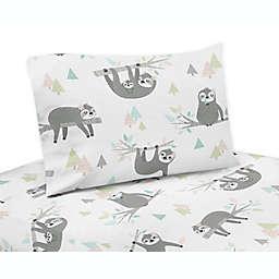 Sweet Jojo Designs Sloth Twin Sheet Set