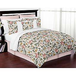 Sweet Jojo Designs Vintage Floral Comforter Set in Pink/Green