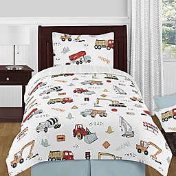 Sweet Jojo Designs® 4-Piece Construction Truck Twin Comforter Set