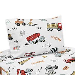 Sweet Jojo Designs® Construction Truck Sheet Set