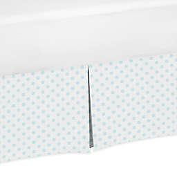 Sweet Jojo Designs® Blue Floral Queen Bed Skirt