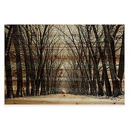 Parvez Taj Tree Path Pine Wood Wall Art