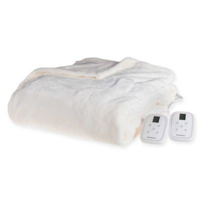 Brookstone 174 N A P 174 Heated Plush Blanket Bed Bath And