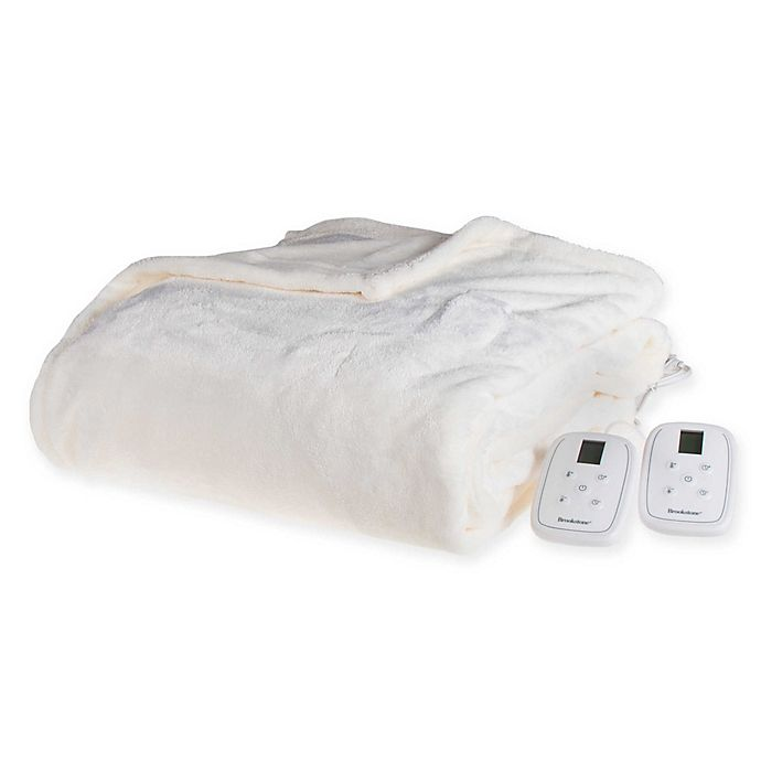 Alternate image 1 for Brookstone® n-a-p® Heated Plush Blanket