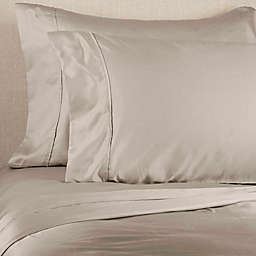 Brookstone® BioSense 500-Thread-Count Tencel Standard/Queen Pillowcase Set in Khaki