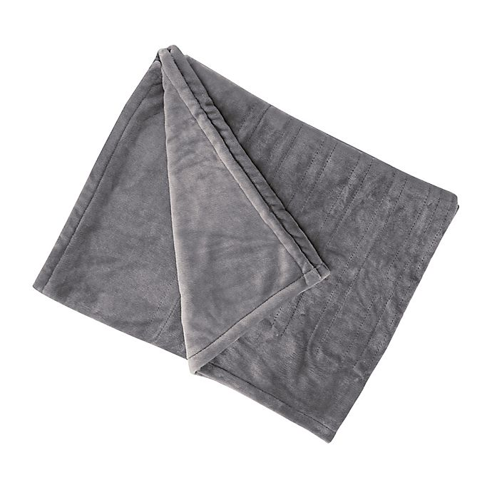 Alternate image 1 for Brookstone® n-a-p® Heated Plush Throw Blanket in Grey