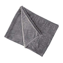 Brookstone® n-a-p® Heated Plush Throw Blanket in Grey