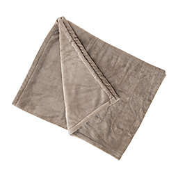 Brookstone® n-a-p® Heated Plush Throw Blanket in Taupe